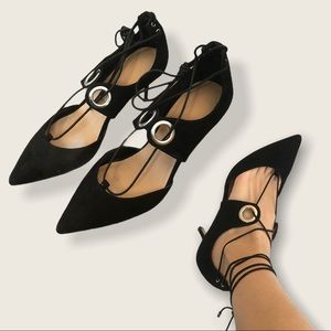 ASOS Black Pointed Tie Strappy Stilettos